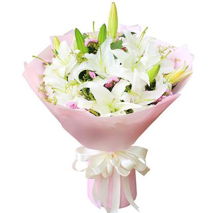 6枝香水百合精品花束