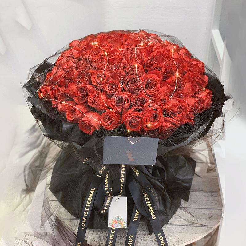 99朵紅玫瑰網紗款